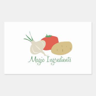 Magic Ingredients Rectangular Sticker