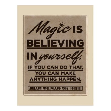 wordstolivebydesign Magic is believing in yourself... postcard