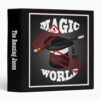 Magic is My World Magician Top Secret Binder