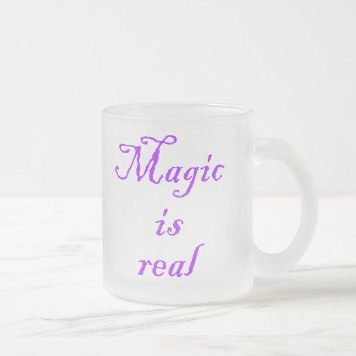 Magic is Real-mug 10 Oz Frosted Glass Coffee Mug