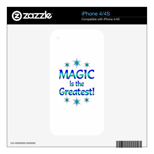 Magic is the Greatest iPhone 4 Decals