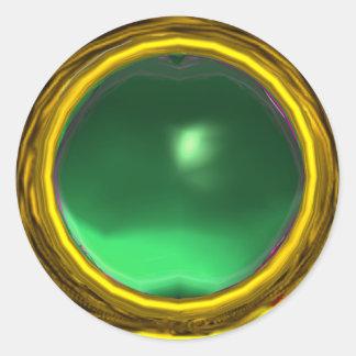 MAGIC JADE , bright vibrant yellow green Stickers