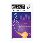Magic Lamp & Flying Carpet Birthday Postage Stamps