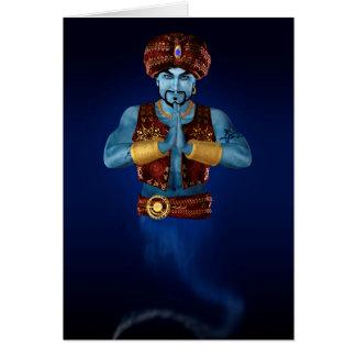 Magic Lamp Genie Greeting Card