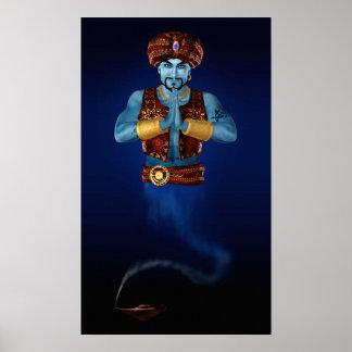 Magic Lamp Genie Poster