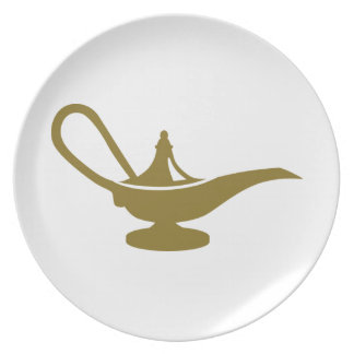 Magic lamp melamine plate