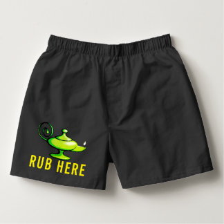 Magic Lamp | Naughty Genie | Rub Here Boxers