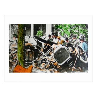 Magic Lantern Car Wreck Postcard