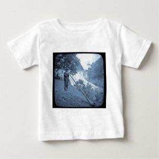 Magic Lantern Slide Alp Horn Vintage Cyan Baby T-Shirt