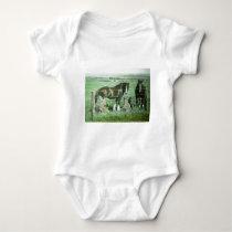 Magic Lantern Slide Horses Baby Bodysuit