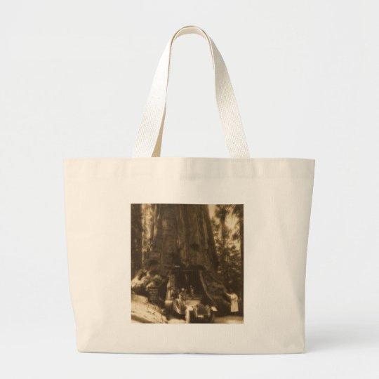 Magic Lantern Slide Maraposa Big Trees California Large Tote Bag