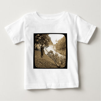 Magic Lantern Slide Swiss Alps Horn Blower Baby T-Shirt