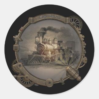 Magic Lantern - Steampunk Style Frame. Classic Round Sticker