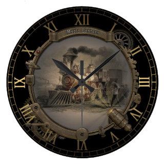 Magic Lantern - Steampunk Style Frame. Large Clock