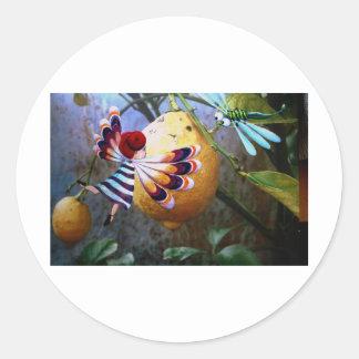 Magic lemon tree classic round sticker