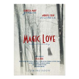 Magic Love - Wedding Movie Poster Style Invitation