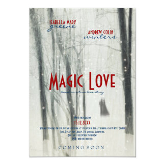 Magic Love - Wedding Movie Poster Style Invitation