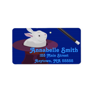Magic Magician Birthday Party Address Labels