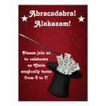 Magic Magician Birthday Party Invitation