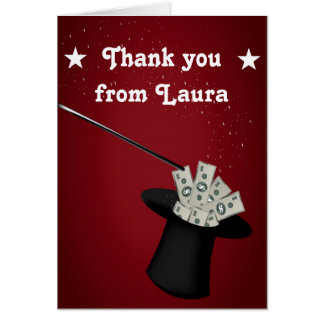 Magic Magician Birthday Thank You Note Card
