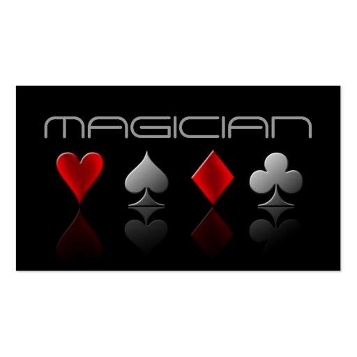 Magician business card templates bizcardstudio magic magician card poker trick entertainment business cards colourmoves