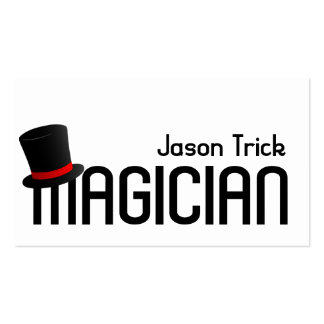 Magic Magician Card Trick Poker Chip Entertainment Double-Sided Standard Business Cards (Pack Of 100)