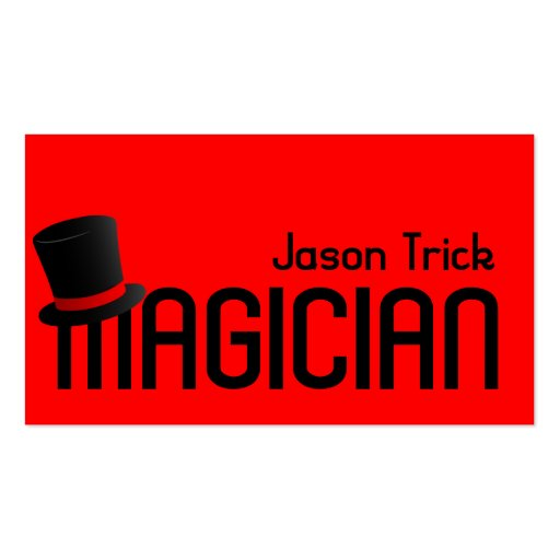Magic magician card trick poker chip entertainment for Business card tricks