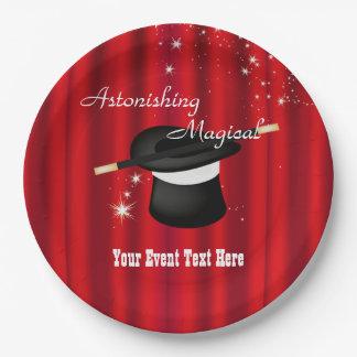Magic Magician Event Custom Party Plates