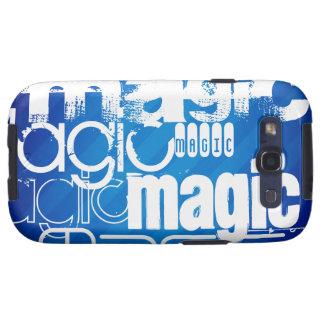 Magic, Magician; Royal Blue Stripes Galaxy S3 Covers