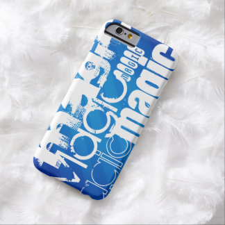 Magic, Magician; Royal Blue Stripes Barely There iPhone 6 Case