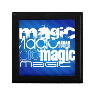 Magic, Magician; Royal Blue Stripes Trinket Box