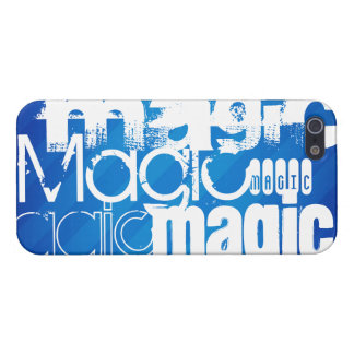 Magic, Magician; Royal Blue Stripes iPhone 5/5S Case
