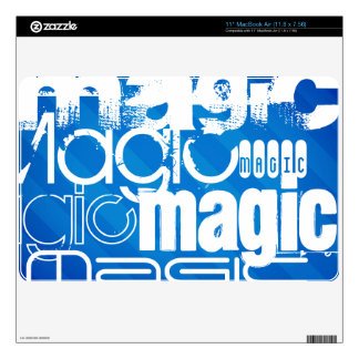 Magic, Magician; Royal Blue Stripes MacBook Skins