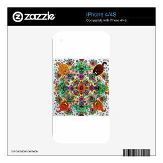 Magic mandala cats iPhone 4S skin