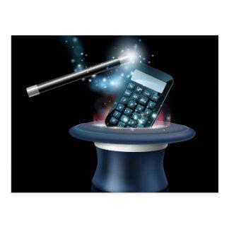 Magic math concept post card