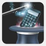Magic math concept square stickers