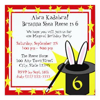 "Magic Me Birthday 5.25"" Square Invitation Card"