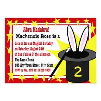 Magic Me Birthday Custom Announcements