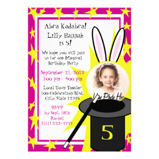 Magic Me Birthday Pink Personalized Invite