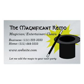 Magic Me/ Magician Double-Sided Standard Business Cards (Pack Of 100)