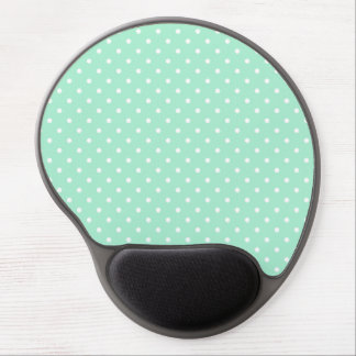 Magic Mint and White Polka Dot Pattern Gel Mouse Pad