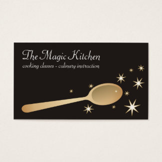 magic mixing spoon cooking baking business card... business card