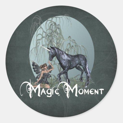 Magic Moment Round Stickers