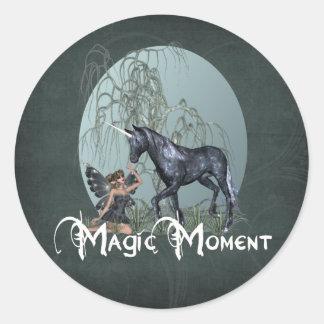 Magic momento pegatina redonda