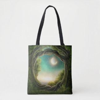 Magic Moon Tree All-Over-Print Tote Bag