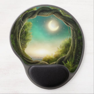 Magic Moon Tree Gel Mouse Pad