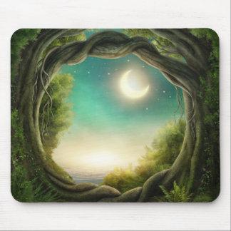 Magic Moon Tree Mouse Pad