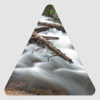 Magic Mountain Stream Triangle Sticker