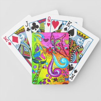 magic mushroom butterfly playing cards
