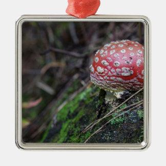 Magic Mushroom Metal Ornament